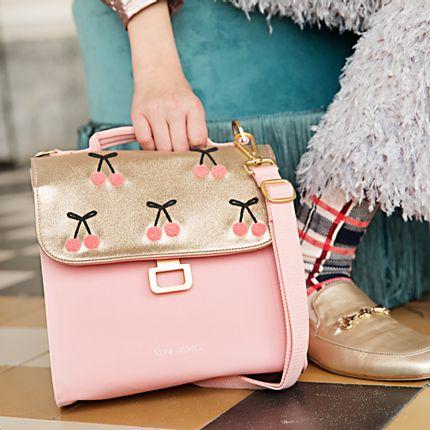 Kids accessories - Lunch bag Cherry Pompon - JEUNE PREMIER