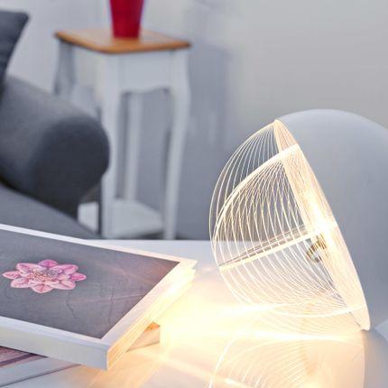 Table lamps - Oblò Bianco table lamp - ZINTEH LIGHTING