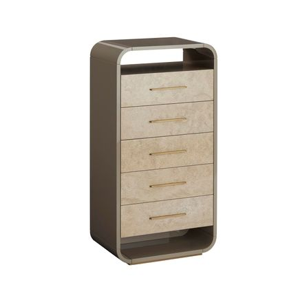 Chests of drawers - Simone Tall Chest of Drawers - CASA MAGNA COLLECTION