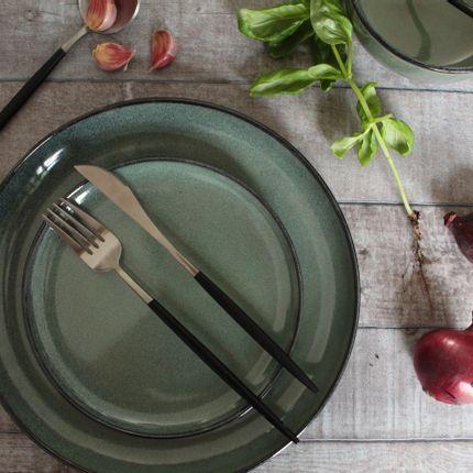 Everyday plates - Gemeo Hamuza Azul – plate 19cm – Blue-grey - GEMEO TABLEWARE