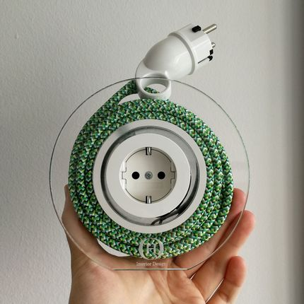 Design objects - Extension Cord for 2 Plugs - Green Pixel - OH INTERIOR DESIGN