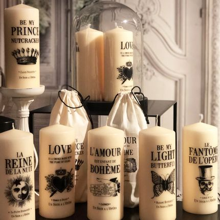 Candles - Opera Tattooed Pillar Candles - UN SOIR A L'OPERA