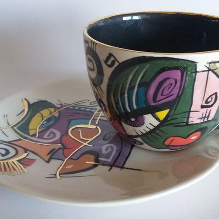 Ceramic - ENIGMA cups&saucers / HANA - ENIGMA