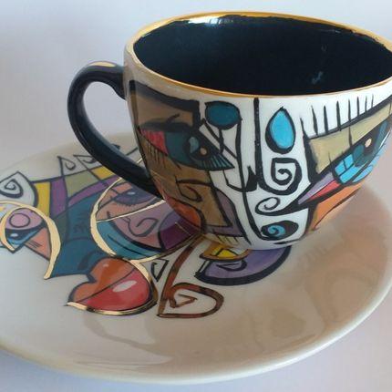 Céramique - ENIGMA tasses et soucères/LORA - ENIGMA