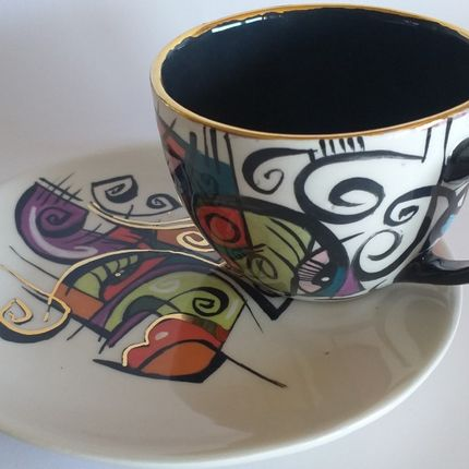 Céramique - ENIGMA tasses et soucoupes/SKY - ENIGMA