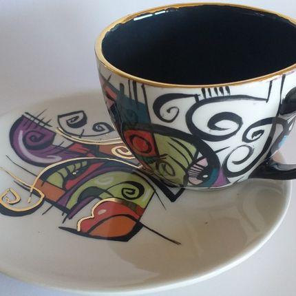 Ceramic - ENIGMA cups&saucers / SKY - ENIGMA