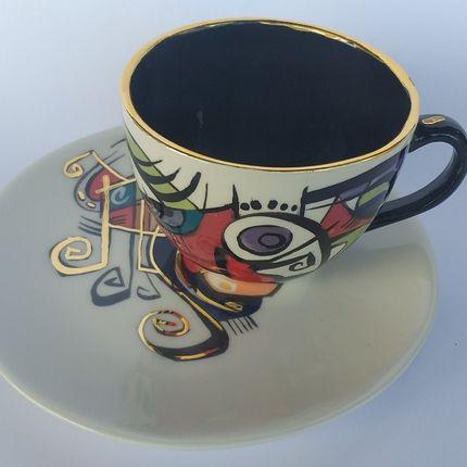 Ceramic - ENIGMA cups&saucers / TANIYA - ENIGMA