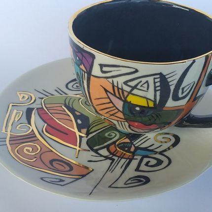Ceramic - ENIGMA cups&saucers / TENA - ENIGMA