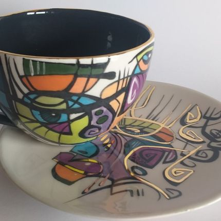 Ceramic - ENIGMA cups&saucers /BELLA -Tea time - ENIGMA