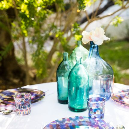 Everyday plates - Glass collection  - LE BOTTEGHE DI SU GOLOGONE
