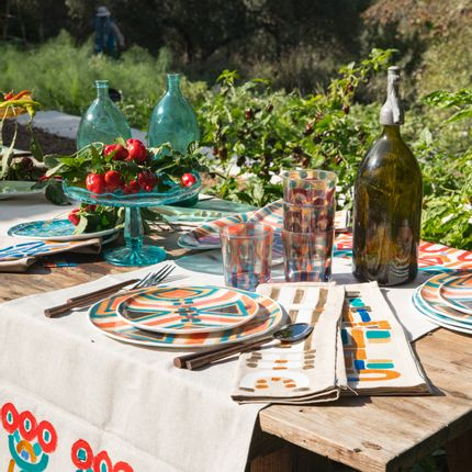 Kitchen linens - Linen runners and placemats colores collection  - LE BOTTEGHE DI SU GOLOGONE