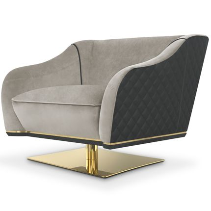 Small sofas - Saboteur Swivel Single Sofa - LUXXU