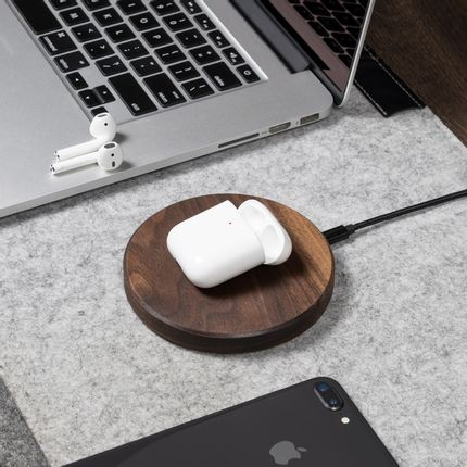 Furniture and storage - Wooden Slim wireless charging Pad - OAKYWOOD