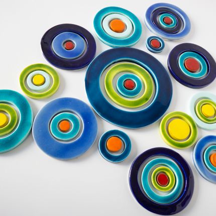 Wall coverings - Multicolours ceramic discs - MARSIA STUDIO CERAMICHE DI MARIELLA SIANO
