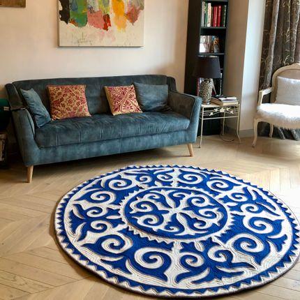 "Design - Tapis ""Kalkan bleu""  - SEZIM DESIGN"