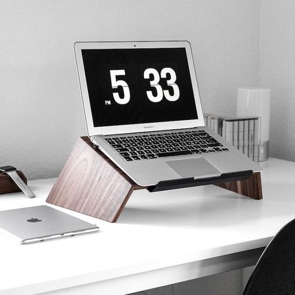 Desks - Wooden laptop stand - OAKYWOOD