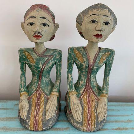 Sculptures / statuettes / miniatures - Loro Blonyo Statue en bois - CASA NATURA