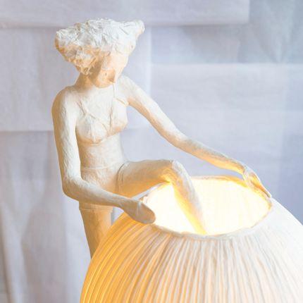 Table lamps - Mademoiselle Hors de sa robe, lamp - PAPIER À ÊTRES