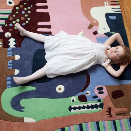 Children's bedrooms - Puzzle Animals Rug  - AFKLIVING DESIGNER RUGS