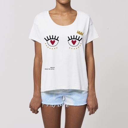 Ready-to-wear - Tshirt COEUR DANS LES YEUX - WAY CUSTOM