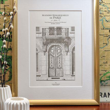 Affiches - Affiche Porte parisienne boulevard Sébastopol Architecture - L'ATELIER LETTERPRESS