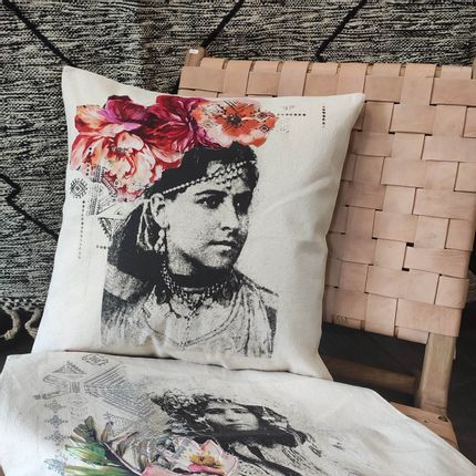 Cushions - Cushion covers Face Flowers - SISSIMOROCCO