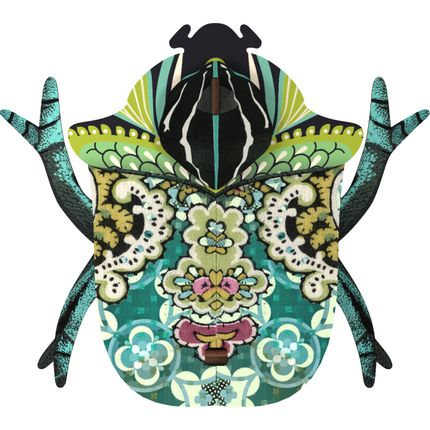 Wall decoration - Bill - Decorative beetle with hidden small storage - MIHO UNEXPECTED THINGS