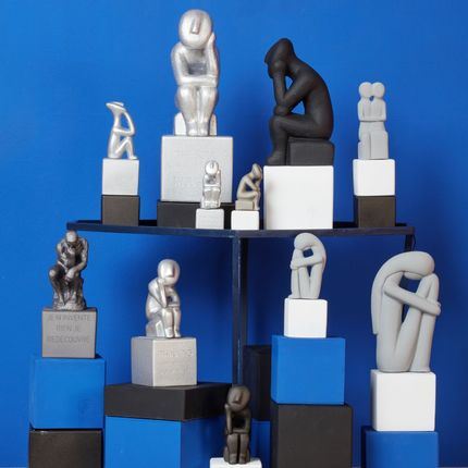 Sculptures / statuettes / miniatures - Cycladic Thinkers - SOPHIA ENJOY THINKING
