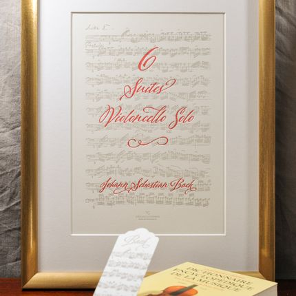 Poster - Art print Cello Suites by Bach - L'ATELIER LETTERPRESS