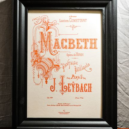 Poster - Art print Macbeth by Verdi - L'ATELIER LETTERPRESS