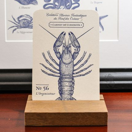 Stationery / Card shop / Writing - Card Lobster - L'ATELIER LETTERPRESS