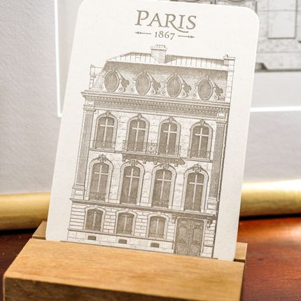Stationery / Card shop / Writing - Card Parisian Building Champs-Elysées Architecture - L'ATELIER LETTERPRESS