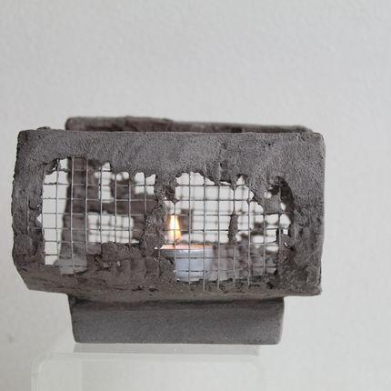 Objets de décoration - Photophore grillagé - CHAPITRE MAISON