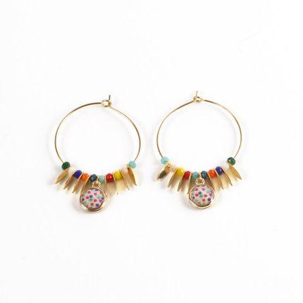 Jewelry - Hoop earings Summer Perolina - LITCHI