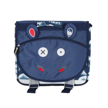 Bags / bookbags - 35cm Satchel Hippipos the Hippo - LES DEGLINGOS
