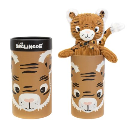 Soft toy - Big Simply Deglingos Plush Speculos the Tiger - LES DEGLINGOS