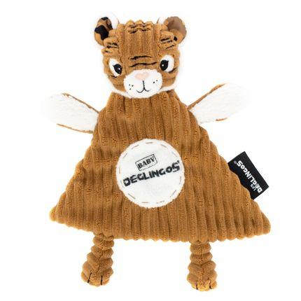 Soft toy - Baby Deglingos Comfoter Speculos the Tiger - LES DEGLINGOS