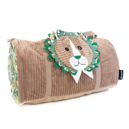 Bags / bookbags - Week End Bag Jelekros the Lion - LES DEGLINGOS