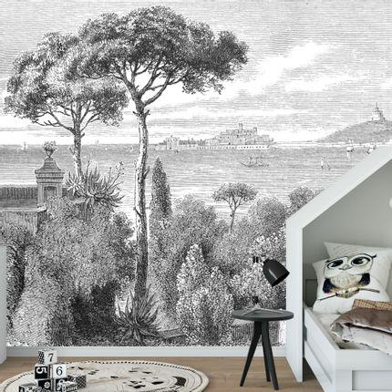 Décoration murale - Papier Peint Panoramique Gravure - Sicile - CIMENT FACTORY