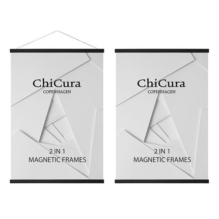 Wall decoration - ChiCura 2 In 1 Magnetic Frames - Ash Black - CHICURA COPENHAGEN