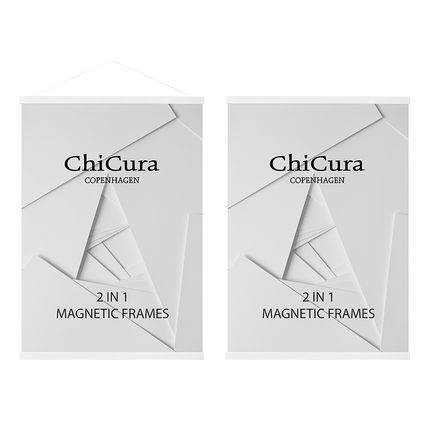 Wall decoration - ChiCura 2 In 1 Magnetic Frames - Ash White - CHICURA COPENHAGEN