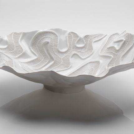 Céramique - OPEN SEA Centre de table blanc - FOS