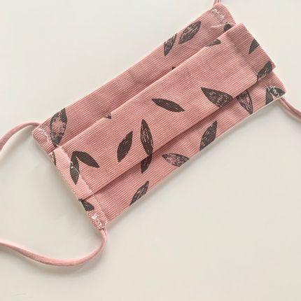 Scarves - Afnor Standard Fabric Mask Adult Vegetable Pink - LES LOVERS DECO