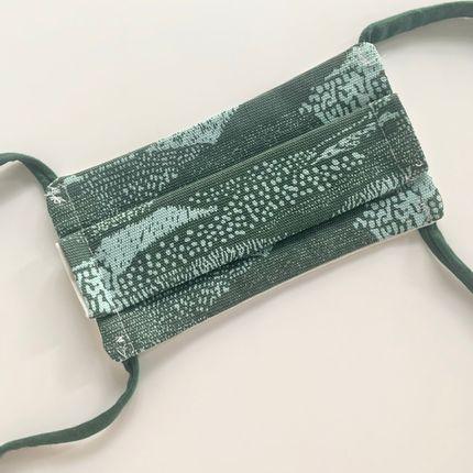 Scarves - Afnor Standard Fabric Mask Adult Vegetable Green - LES LOVERS DECO