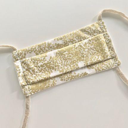 Scarves - Adult Afnor Standard Fabric Mask Flower Model Gold - LES LOVERS DECO