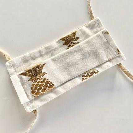 Scarves - Adult Afnor Standard Fabric Mask Pineapple Model - LES LOVERS DECO