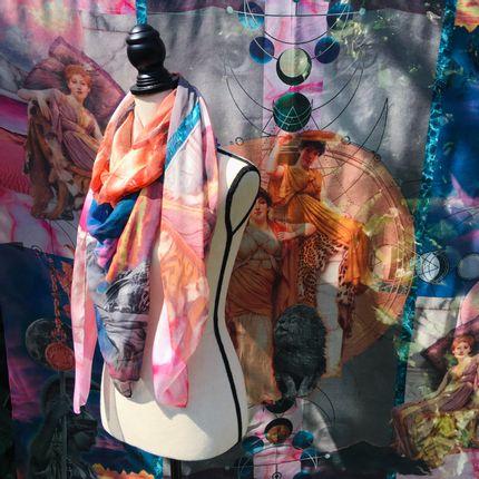 Scarves - Talisman Arthemis Scarf - EMILIE SAUZET - INSPIRATIONS