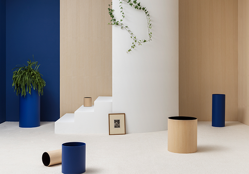 UNI HABITAT - UNI wooden and blue planters