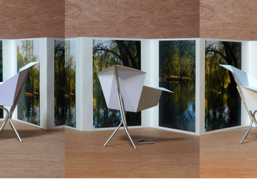 CARLOS BARBA AR+TE / ARCHITECTURE + TERRITOIRE - Folded chair