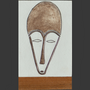 Tiles / flagstones - African Masks for indoors, water rooms ou sheltered outdoor. - MARCHAND DE SABLES